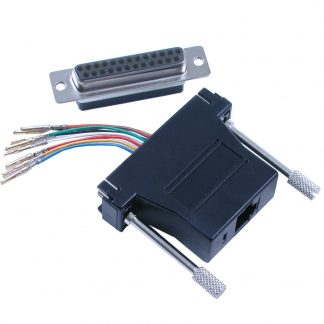 DB25 Female to RJ45 Modular Adapter