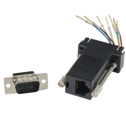 DB9 Male to RJ45 Modular Adapter