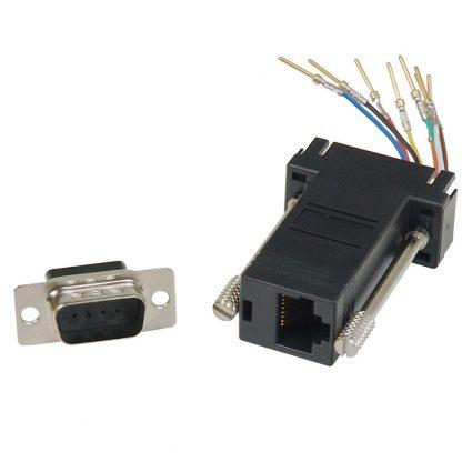 DB9 Male to RJ45 Modular Adapter