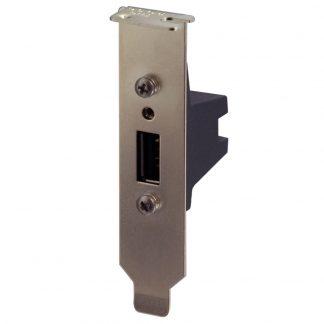 USB Low Profile PCI Bracket with SeaLATCH Type A Port