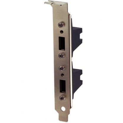 Dual USB PCI Bracket with Two SeaLATCH Type A Ports