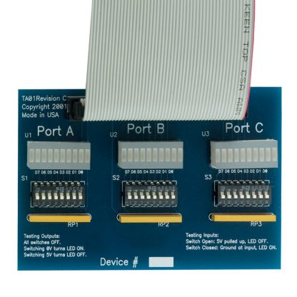 Application Example: TA01 Relay Rack Simulation Module w/ Optional 50-Pin IDC Ribbon Cable