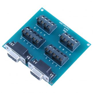 Terminal Block - Dual DB9 Female to 18 Screw Terminals