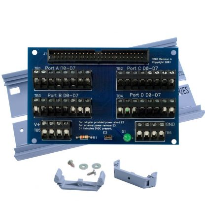 Terminal Block Kit - 50 Pin Header (IDC Ribbon Cable) to Screw Terminals for Industry Standard TTL Solid State Relay Rack Cables