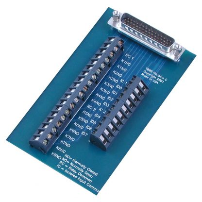 Terminal Block - HD44 Male to 28 Screw Terminals - for 8011