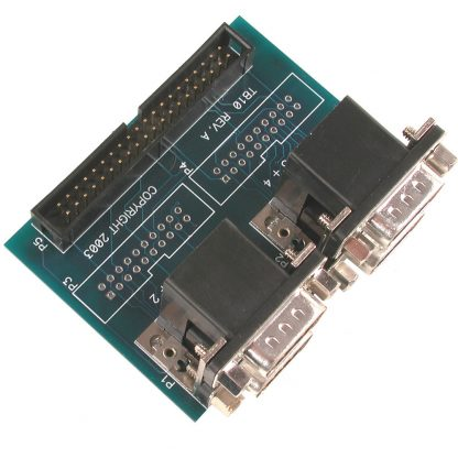 Terminal Block - IDC40 to (4) DB9 Male Connectors - for 354x Multi-Port Interface Adapters