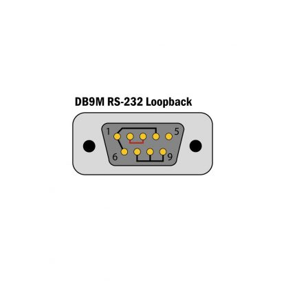 2108 DB9M RS-232 Loopback Diagram