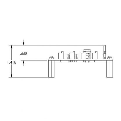HUB4PH-OEM Board Envelope Dimensions