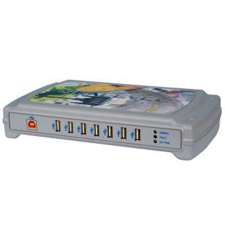 Optically Isolated 7-Port USB Hub