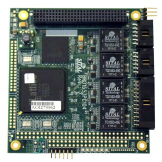 MIL-STD-1553 Two-Channel PC/104+ Board, 8 Avionics Discrete I/O, 16/8 ARINC429, 4 RS-485