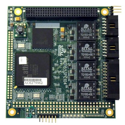 MIL-STD-1553 Two-Channel PC/104+ Board, 8 Avionics Discrete I/O, 16/8 ARINC429, 4 RS-485