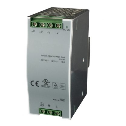 85 - 264VAC to 48VDC @ 1.6A, DIN Rail Power Supply