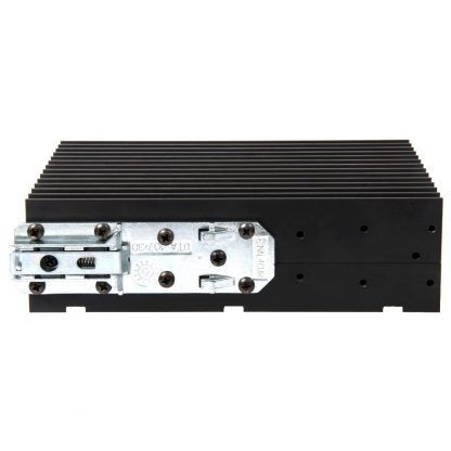 KT133 DIN Rail Bracket (Mounting holes on Relio R1 allow bracket to be mounted in either orientation)