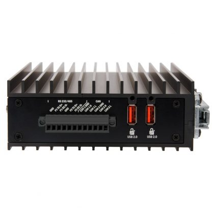 Relio R1 Dual Serial Ports, Optional CAN Bus 2.0b & Two SeaLATCH Locking USB 2.0 Connectors (Right View)