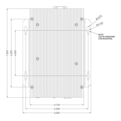 R23004 Top View Dimensions