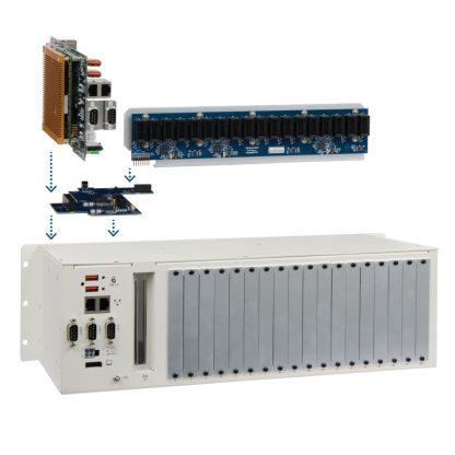 Application Example: Relio R3 with COM Express Module/Carrier Board, Bridge Board and SeaRAQ Backplane Board