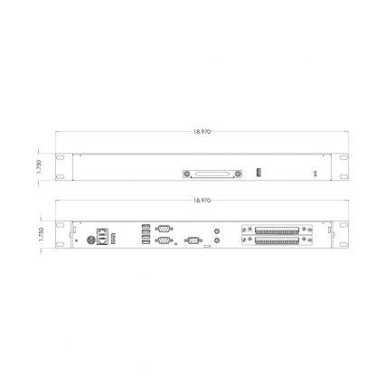 Relio R4 Front/Rear View Dimensions