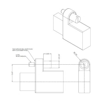 CA332-5M SeaLATCH Type A Connector Imperial Dimensions (Inches)