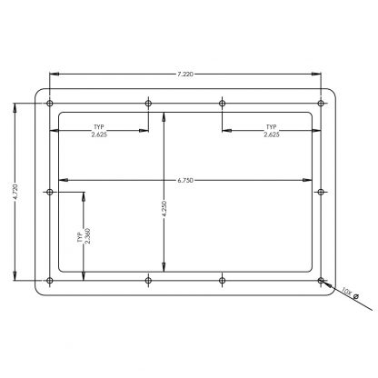 S96100-7R Panel Cut Out Diagram