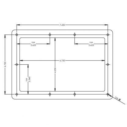 S96100-7R Panel Cut Out Diagram