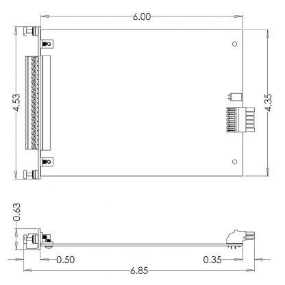 8521 SeaRAQ Module Dimensions