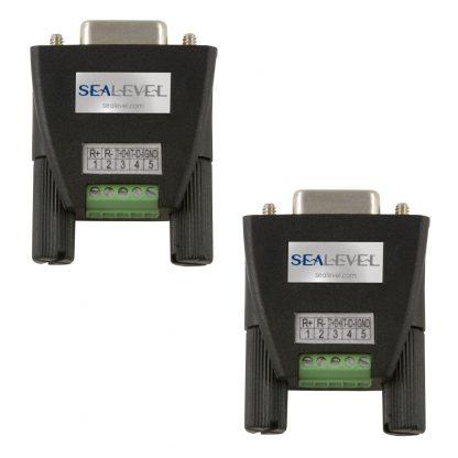 Terminal Block Kit (2 Pack) - DB9 Female to 5 Screw Terminals (RS-422/485)
