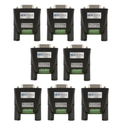 Terminal Block Kit (8 Pack) - DB9 Female to 5 Screw Terminals (RS-422/485)