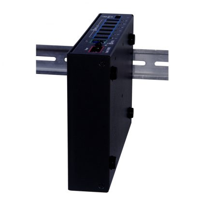 Rugged SuperSpeed 7-Port USB 3.1 Hub mounted with Optional DIN Rail Mounting Kit (Item #DR106)
